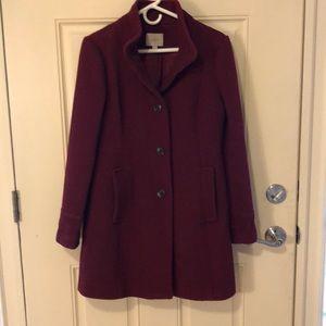 Loft Brand Casual/Dressy Burgundy lined Coat